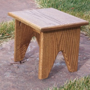 Oak Shooting Stool