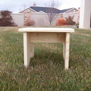 Pine Shooting Stool