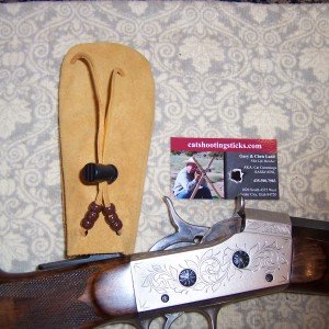 Custom Suede Sight &  Muzzle Sacks,–Tan