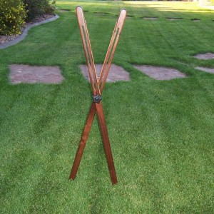 Custom Walnut 48 Inch Cross Sticks