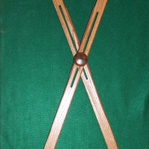 48 inch Oak Square Top Buffalo Cross Sticks