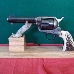 Six Shooter Single Antler Display Stand